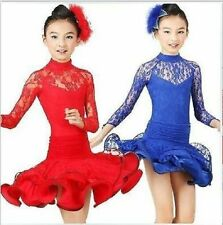 Childrens Latin Salsa Ballroom Dance Dress Girls Dancewear costumes