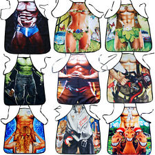 COOKING APRON NOVELTY SEXY nurse super man muscle JOKE DINNER PARTY ADULTS UNISE