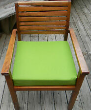 """IN/OUTDOOR TEAK PATIO DINING CHAIR SEAT CUSHION-CHOICE OF SOLID COLORS -18""""X17"""""""