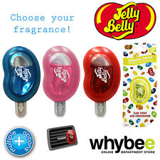 JELLY BELLY CAR VENT AIR FRESHENER WITH CLIP - 4 FLAVOURS - LASTS up to 30 DAYS