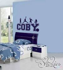 Personalised Any Name Wall Art Sticker Basketball design childs kids bedroom