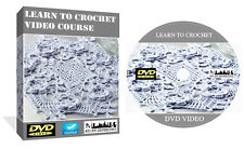 Learn To Crochet Course Step By Step Instructions Guides On DVD Video