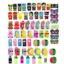 Hot! 3D Cartoon Superhero Silicone Rubber Back Case Cover For iPhone 4G 4S 5 5S