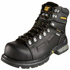 "Mens Caterpillar Endure 6"" Waterproof Work Boot Steel Toe (E,W) Black P89945"