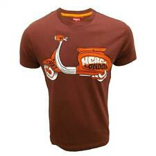 MERC T SHIRT GLASGOW MENS MULBERRY BROWN GRAPHIC PRINT TOP