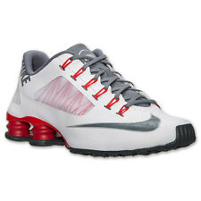 MEN'S NIKE SHOX SUPERFLY R4 RUNNING SHOES ~ WHITE/COOL GREY/UNIVERSITY RED ~ NEW