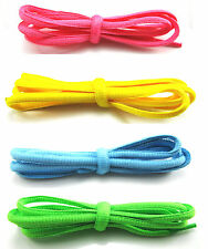 Unbranded Shoe/Trainer/Boot Oval Laces - Pink, Blue, Yellow, Green