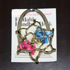 Flower Women Lady Folding Table Handbag Hanger Hook Bag Purse Holder XMAS Gift
