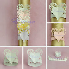 New Heart-shaped Design Napkin Rings Holders of Wedding Christmas Party Decor