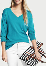 NWT Banana Republic New $59.50 Women Silk Blend Draped V-Neck Pullover Size XS,M