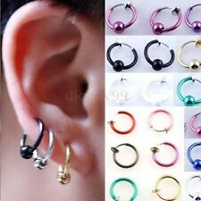 1~11pc Clip On Fake Hoop Nose Lip Ear Ring Stud Hoop Earrings Piercing Ear Clip