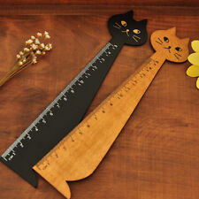 Fun & Funky Wooden Cat Rulers - 2 Colours To Choose From