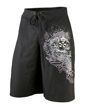 Lillian Rose Black Just Married True Love Groom Boardshorts Bathing Trunks S M L