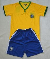 2014 WORLD CUP CHILDS BOYS BRA HOME shirt and short kit 3-14 years