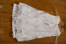Girls DKNY white floral lace embroidered cute sleeveless dress NWT