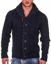 Petrol Industries Herren Strickjacke KWV209 deep navy Herrenjacke Strick Jacke