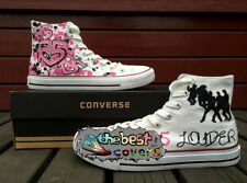 CONVERSE All Star High R5 pop rock band Hand painted shoes zapatos scarpe