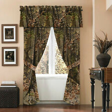 WINDOW CURTAINS WOODS CAMO MATCHING 6 COLORS TO CHOOSE FROM COMFORTERS SHEETS