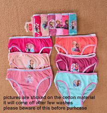 3-14 FROZEN ANNA&ELSA Girls Pack Underwear 6 Briefs Knickers Cotton Gift Panties