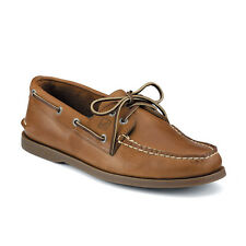 NIB Sperry Top-Sider A/O in Sahara Brown Tan  Leather Boat Shoe Slip On 0197640