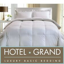 Hotel Grand 1000 Thread Count Cotton Oversized White Down Comforter USA Made