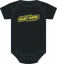 PERSONALISED STAR WARS BABY GROW BOUNTY HUNTER BOBA FETT BABYGROW 0-12 MONTHS