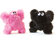 """West Paw Design Li'l Boogey 4"""" Furry Plush Dog Toy HOT PINK Made in USA"""