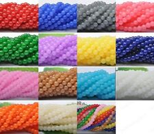 U Pick(15colors)4mm 6mm 8mm 10mm Imitation jade glass Loose Beads