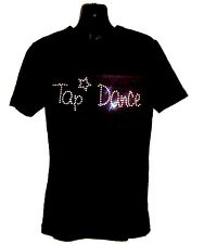 TAP DANCE CHILDRENS T SHIRT      CRYSTAL RHINESTONE DANCE DESIGN...any size