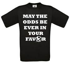 May the odds be ever in your favour t-shirt | hunger games t-shirt top tee 0194