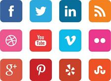 Social Media Icons - Individual (Rounded Corner Square)- Vinyl Decal Sticker