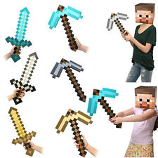 MINECRAFT EVA WEAPON SWORD/PICK AXE/PICKAXE FOAM/DIAMOND/IRON/GOLD/GAME TOY
