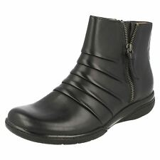 LADIES SPOT ON MID CALF ANKLE BOOTS GREAT FOR COMFORT F50171 SIZES 3-8