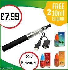 Electronic e Shisha Sheesha Vapour Pen Stick Rechargeable + 2 FREE E-LIQUID