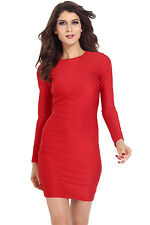 women fahion Scoop out Back Sexy Sleeved Bodycon Dress LC21136 on sale