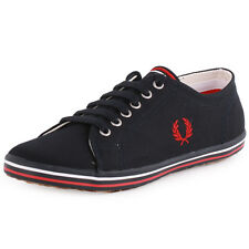 Fred Perry Kingston B3176W Womens Canvas Navy Trainers New Shoes All Sizes