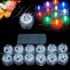 Hot SUBMERSIBLE BATTERY OPERATED LED TEA LIGHTS FLORAL VASE WATERPROOF WEDDING E
