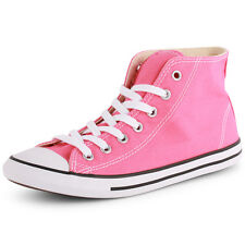 Converse Chuck Taylor Dainty Hi Womens Canvas Pink Trainers New Shoes All Sizes