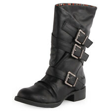 Blowfish Kasbah Womens Synthetic Leather Black Boots New Shoes All Sizes