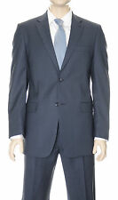 Jones New York Collection Navy Blue Stepweave Two Button Worsted Wool Suit