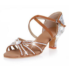 New Women Latin Dance Shoes Sexy charming Rhinestone Dancing Ballroom shoes