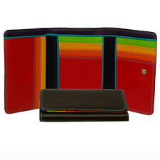 Mywalit Leather Purse 12cm Medium Trifold Wallet Boxed Colour Options