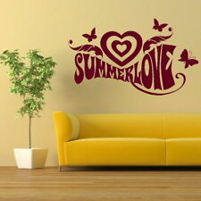 Summer Love Large Vinyl Wall Quote Stylish Art Decor Big Vinyl Quote LO22