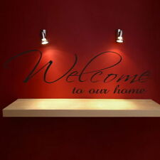 Welcome - Removable Wall Quote Large Art Wall Decor Interior Wall Quote DAQ3