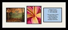Satin Black Collage Picture Frame with 3 - 8x10 opening(s), Double Matted