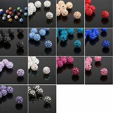 20PCS Multicolor Czech Crystal Shamballa Disco Ball Rhinestone beads 10mm