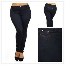 WOMAN'S PLUS SIZE Denim Luxury JEGGINGS Jeans Leggings Cotton Pants XL XXL