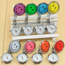 MINI ORDER 1PCS Nurses Watch Smiley Face Stainless Steel Fun Fob Watches Nurse