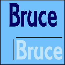 Bruce Boys Name Wall Sticker -18x40cm Interior Home Vinyl Decal Decor Sign