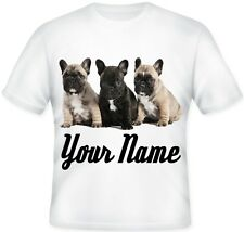 Girls Boys Personalised French bulldog Puppy T Shirt Great Birthday Gift idea!!